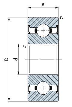Wälzlager rostfrei, Miniatur-Rillenkugellager, zöllig und rostfrei