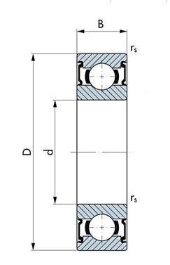 Wälzlager rostfrei, Rillenkugellager, rostfrei - nicht magnetisch